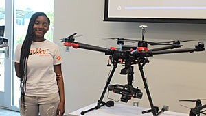 Secure Drones for Hands-On Learning in the Black Belt