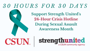 Sexual Assault Awareness Month: 30 Hours for 30 Days