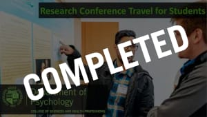 Research Conference Travel For Students 2019