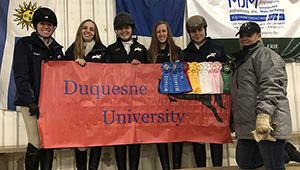 Duquesne University Equestrian Team 2018