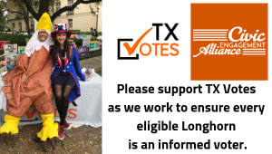 Longhorns! Get out the vote with TX Votes.
