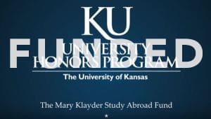 Mary Klayder Study Abroad Fund for Honors Students