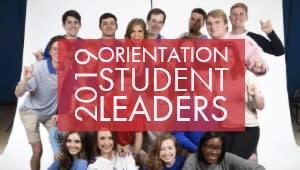 2019 Orientation Student Leaders