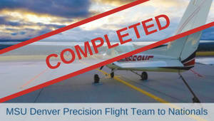 MSU Denver Precision Flight Team Goes To Nationals