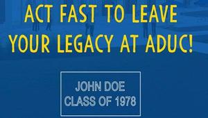 Order Your Alumni Legacy Brick at ADUC!