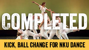 Kick, Ball Change for NKU Dance