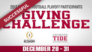 College Football Playoff Participants Giving Challenge
