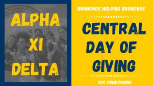 Alpha Xi Delta- Bronchos Helping Bronchos