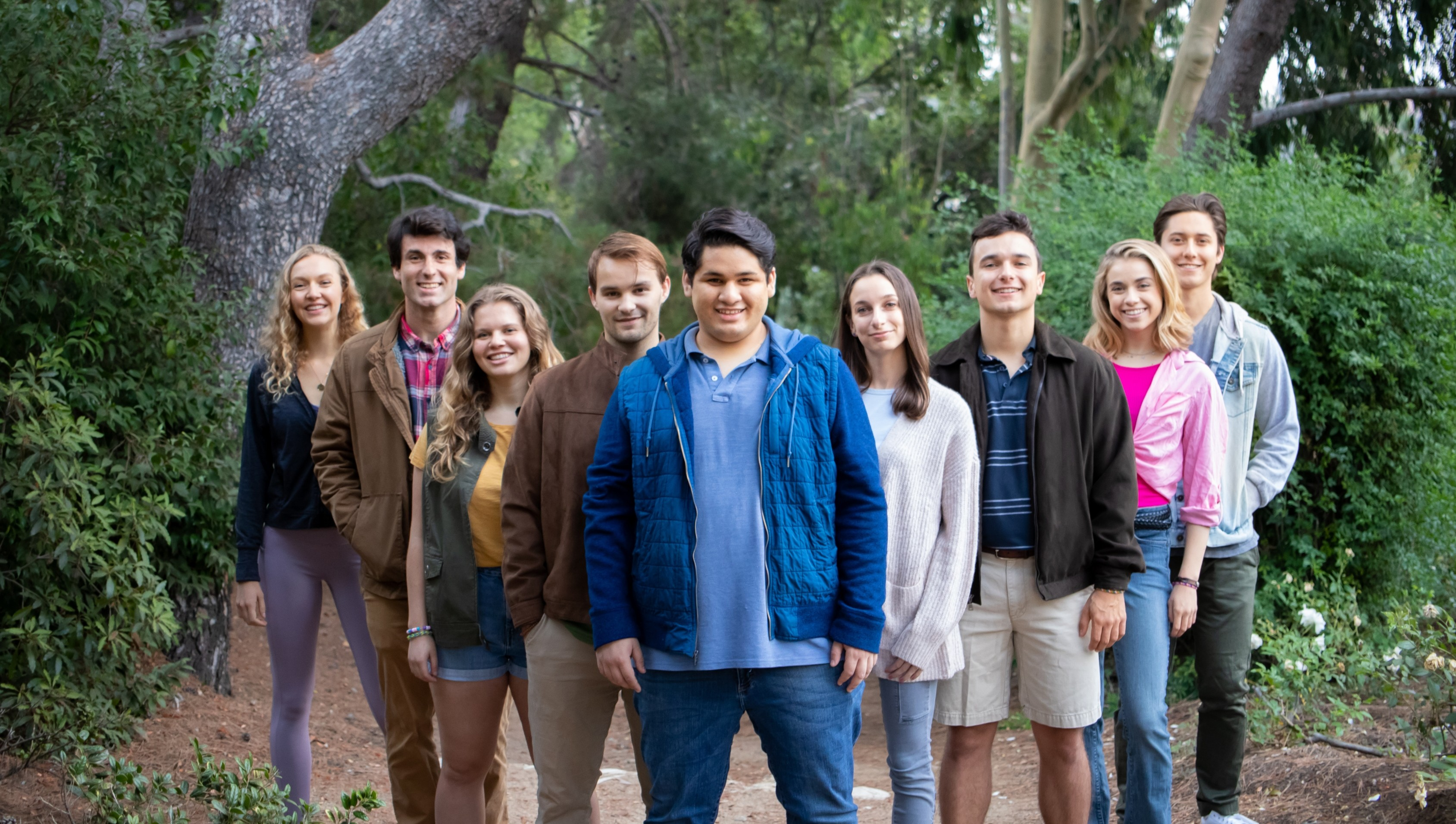 """This is a picture of the MT Seniors from their photo shoot for """"Camp Song,"""" their original musical!"""