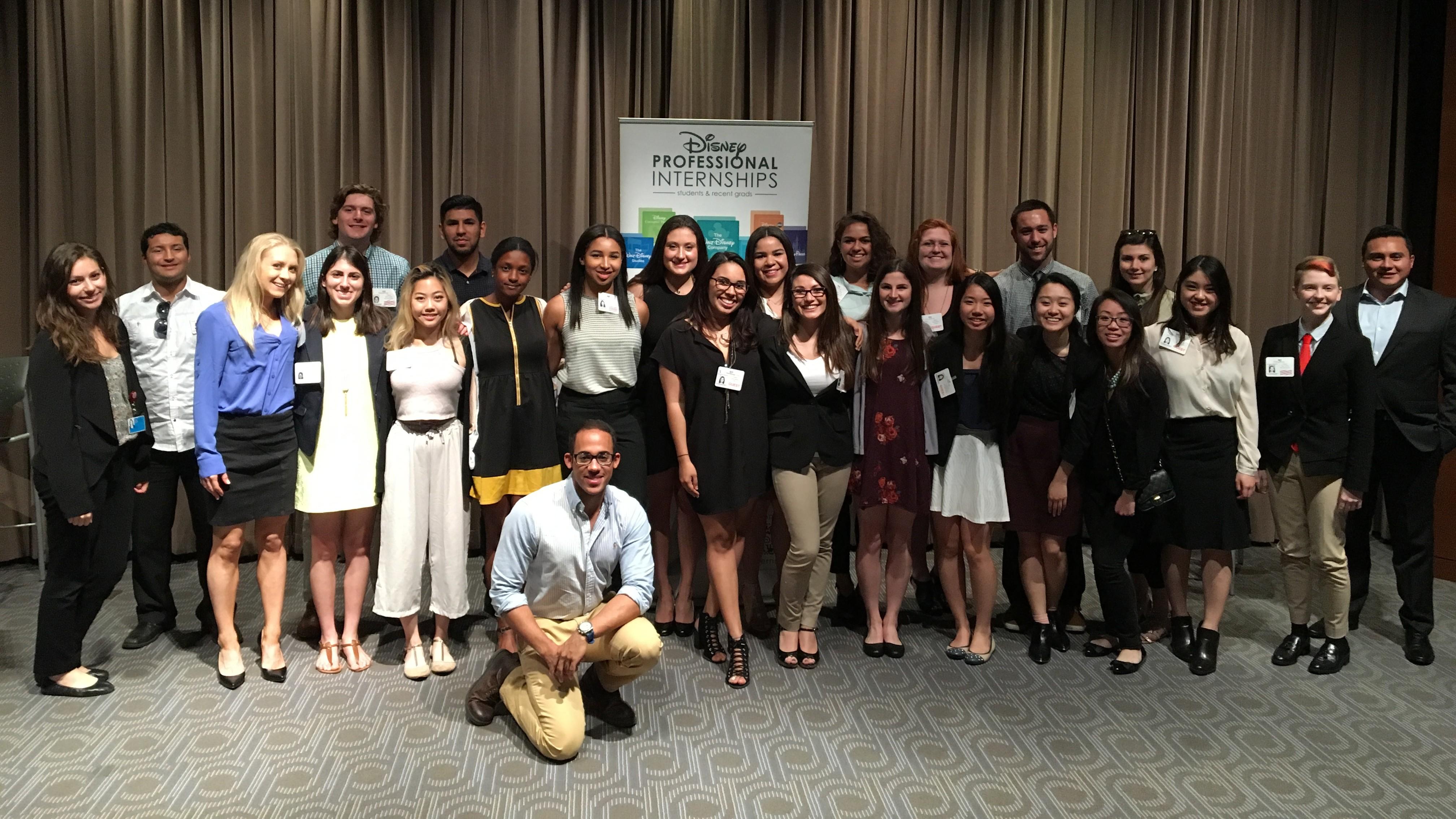 Students at a Disney Professional Internships meeting