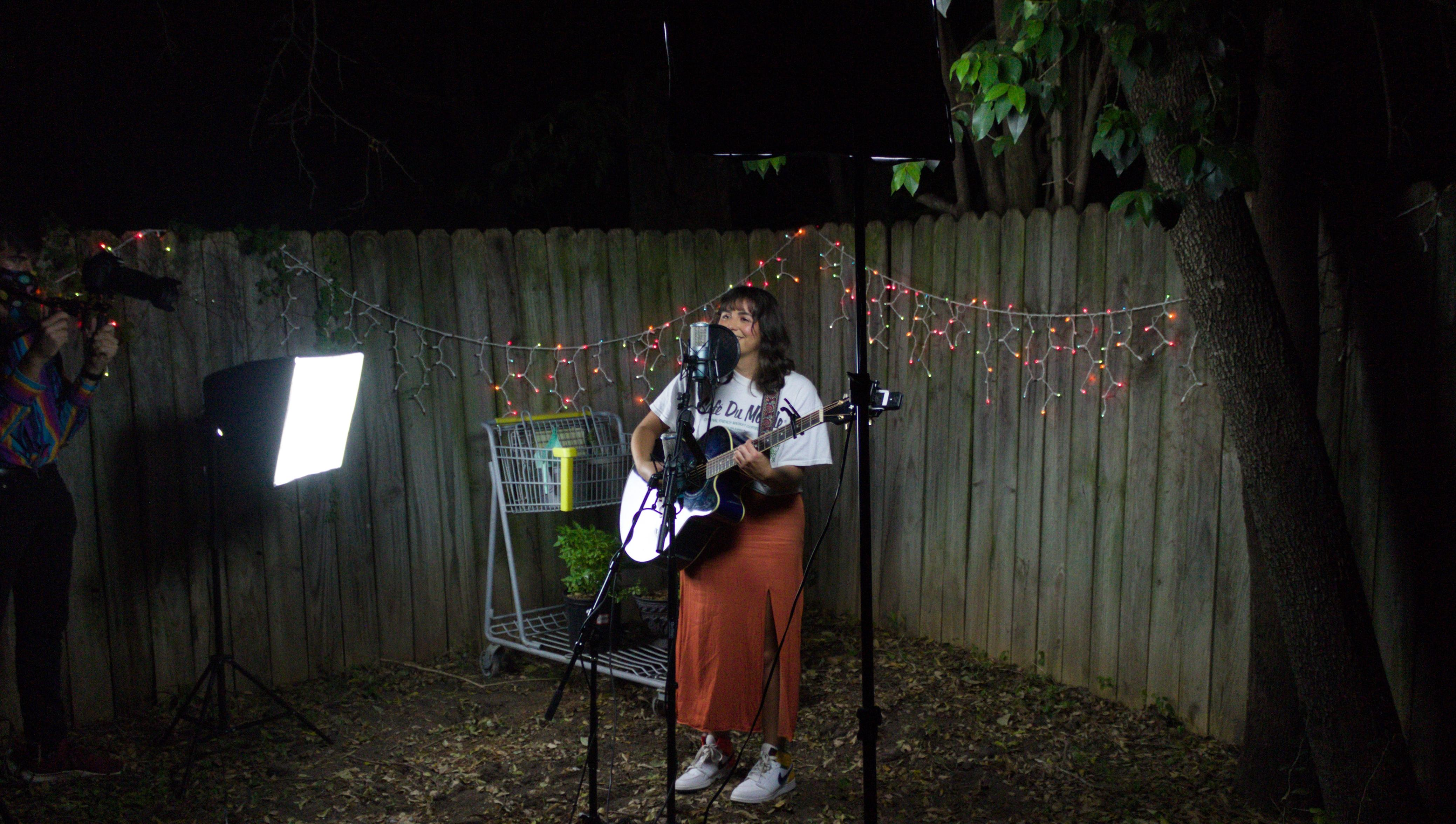 Behind the Scenes photo of Lainey Gonzales' Unplugged Episode by Erin Eubanks