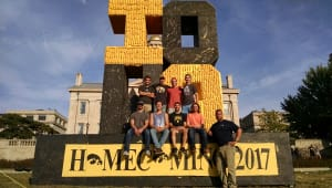 2017 Homecoming Corn Monument