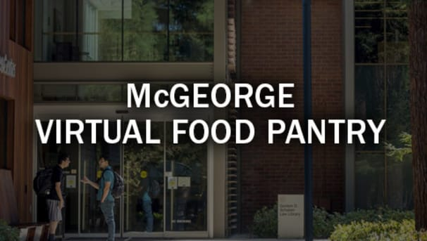 McGeorge Virtual Food Pantry Image