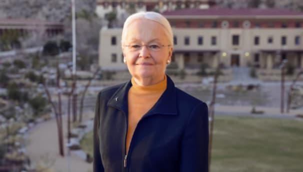 Dr. Diana Natalicio on UTEP campus