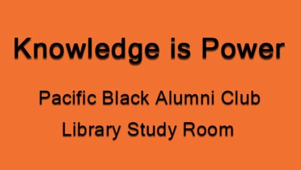 Knowledge Is Power - Black Alumni Study Room Image