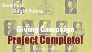 A Rich Past & A Bright Future for Alpha Gamma Nu