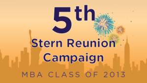 Stern MBA Class of 2013 Reunion Campaign