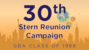 Stern GBA Class of 1988 Reunion Campaign