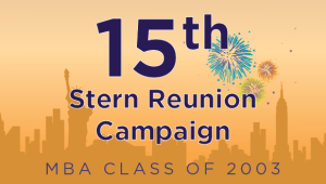 Stern MBA Class of 2003 Reunion Campaign