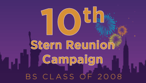 Stern BS Class of 2008 Reunion Campaign