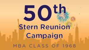Stern MBA Class of 1968 Reunion Campaign