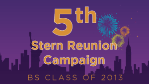 Stern BS Class of 2013 Reunion Campaign