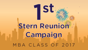 Stern MBA Class of 2017 Reunion Campaign