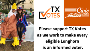 Because every vote matters. Please support TX Votes!