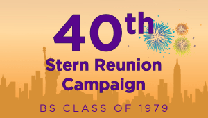 Stern BS Class of 1979 Reunion Campaign