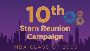 Stern MBA Class of 2009 Reunion Campaign