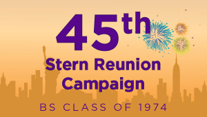 Stern BS Class of 1974 Reunion Campaign