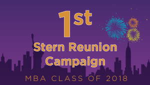 Stern MBA Class of 2018 Reunion Campaign
