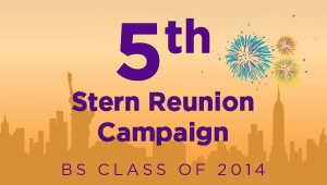 Stern BS Class of 2014 Reunion Campaign