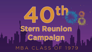 Stern MBA Class of 1979 Reunion Campaign