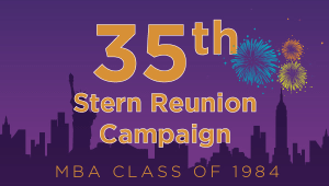 Stern MBA Class of 1984 Reunion Campaign