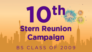 Stern BS Class of 2009 Reunion Campaign