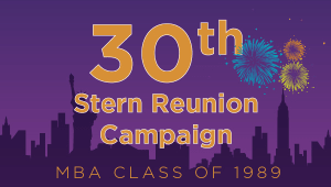 Stern MBA Class of 1989 Reunion Campaign