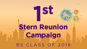 Stern BS Class of 2018 Reunion Campaign