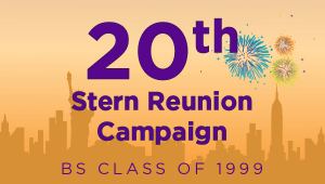 Stern BS Class of 1999 Reunion Campaign