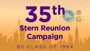 Stern BS Class of 1984 Reunion Campaign