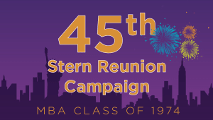 Stern MBA Class of 1974 Reunion Campaign