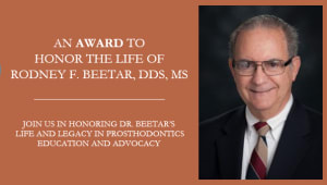 Rodney F. Beetar, DDS, MS, Award