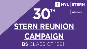 Stern BS Class of 1991 Reunion Campaign