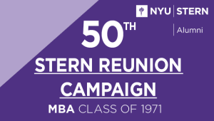Stern MBA Class of 1971 Reunion Campaign