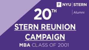 Stern MBA Class of 2001 Reunion Campaign