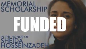 Sheida Hosseinzadeh's Memorial Scholarship