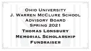 Thomas Lonsbury Memorial Scholarship
