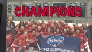 Support Your NEWHA Champions, SHU Women's Hockey!