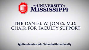 Daniel W. Jones, M.D. Chair for Faculty Support - Faculty