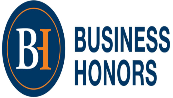 Business Honors logo image.
